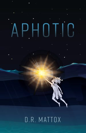 """Cover of """"Aphotic,"""" a new YA science fiction novel from Charlotte's D.R. Mattox."""