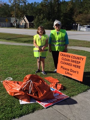Diane Bottone and Ava are shown helping during Clean Sweep held Nov. 7, 2020. [CONTRIBUTED PHOTO]
