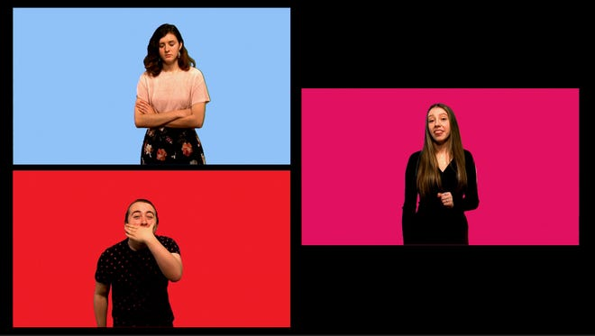 "NFA's Playshop students in ""The Monologue Show,"" a production that will be available for streaming release Friday."