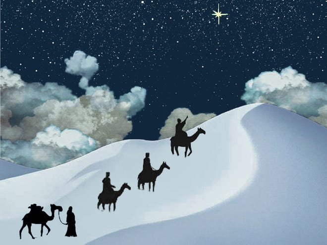 """One of the images by artist Nellie Rustick that will be part of VOX New England's virtual presentation of """"Amahl and the Night Visitors."""""""
