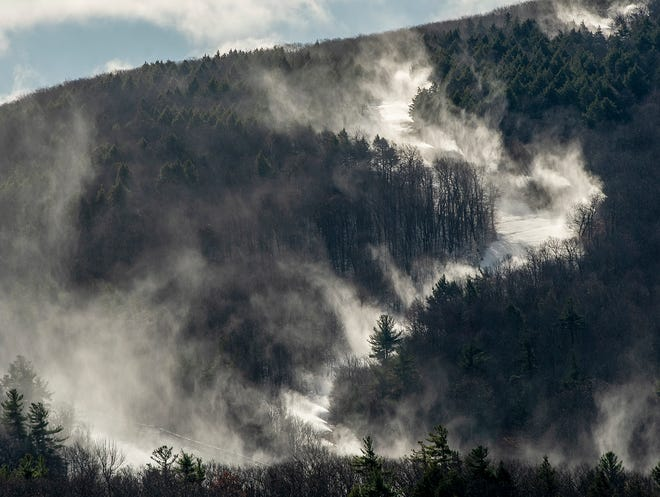 "PRINCETON - With overnight temperatures dropping below 29 degrees, Wachusett Mountain Ski Area on Wednesday began making snow for the first time this season. The mountain is not open for skiing yet; officials said continued low temps could help kick off the season ""sooner than later."""