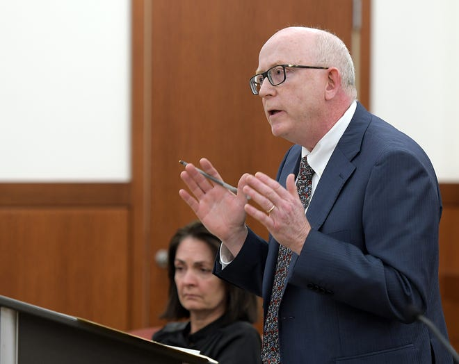 Assistant District Attorney Jeffrey Travers during an October 2019 trial.