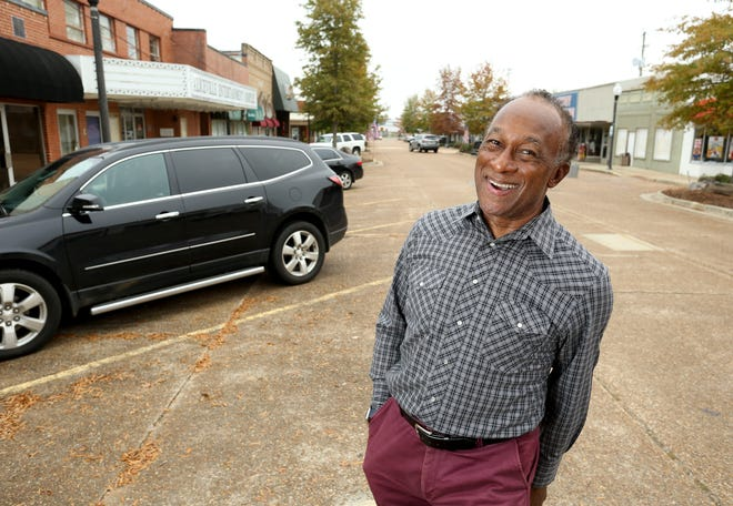 Edgar Pruitt, Aliceville Chamber of Commerce director, has a vision to change his community. Pruitt poses for a portrait on Broad Street Thursday, Nov. 12, 2020. [Staff Photo/Gary Cosby Jr.]