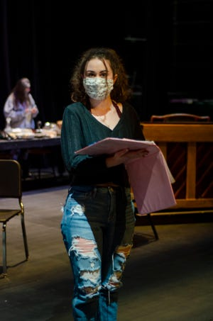 """Westerville Central High School senior Becca Borton plays the character of Mary Hatch in """"It's a Wonderful Life: A Live Radio Play,"""" to be presented Friday, Dec. 4, to Sunday, Dec. 6."""