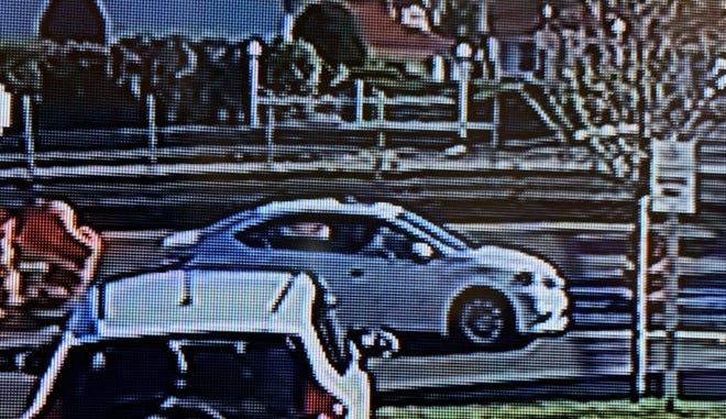 State Police released this photo of a vehicle suspected for striking a pedestrian and then fleeing on Route 1 South Wednesday morning. The vehicle authorities are seeking is the one on the highway, seen from the side
