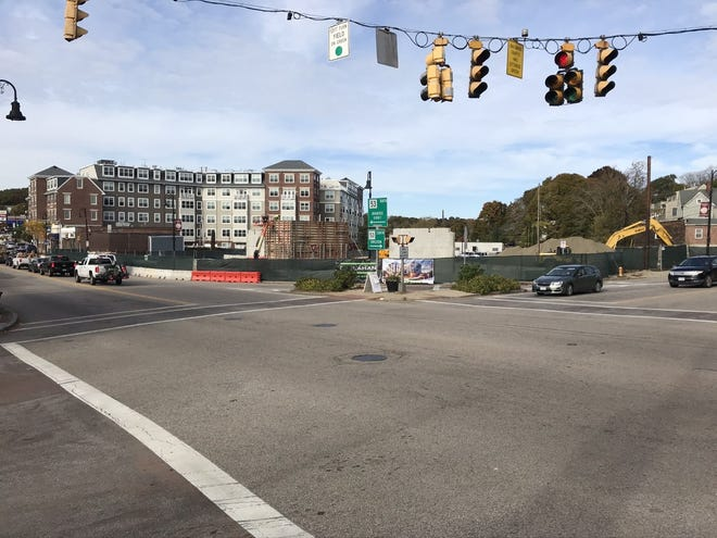 The long awaitedconstruction of an 84-unit apartment and retail complex in Weymouth Landing is underway