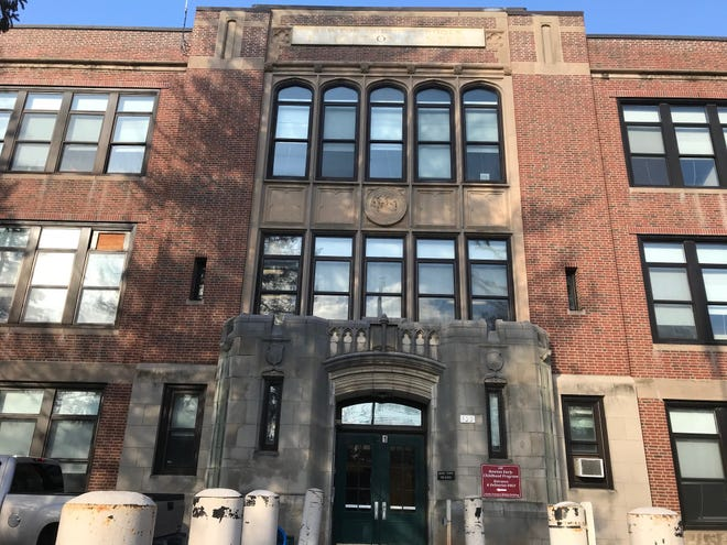 The Newton Schools Administration Building is located at 100 Walnut St.
