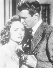 """Donna Reed, left, and Jimmy Stewart in the Frank Capra classic """"It's a Wonderful Life."""""""