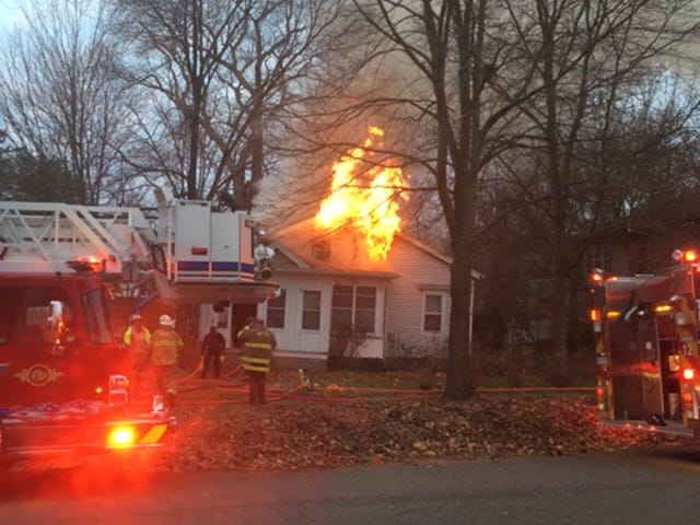 Fire damaged this Marshall home at 315 S. Division St. Wednesday, Nov. 18, 2020.