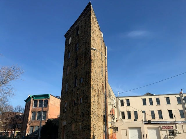 The six-story tower of the Binder Building.