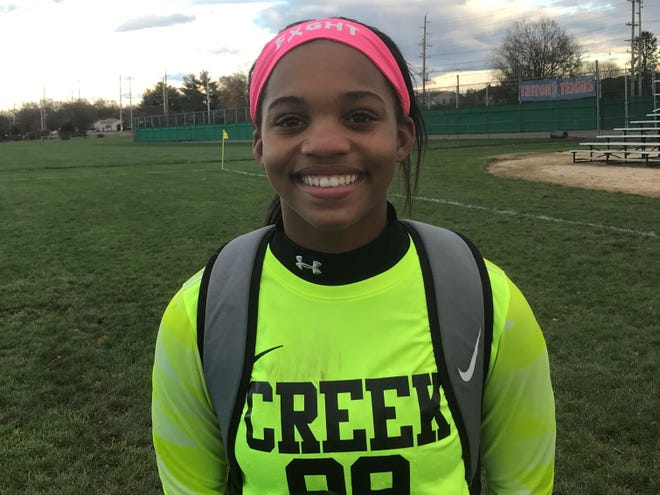 Timber Creek goalie Tatina Carr posted her third straight shutout as the Chargers advanced with a 1-0 postseason win over Triton on Tuesday.