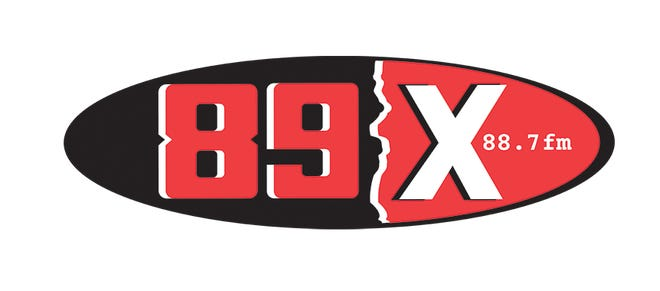 Old-school logo of rock station 89X