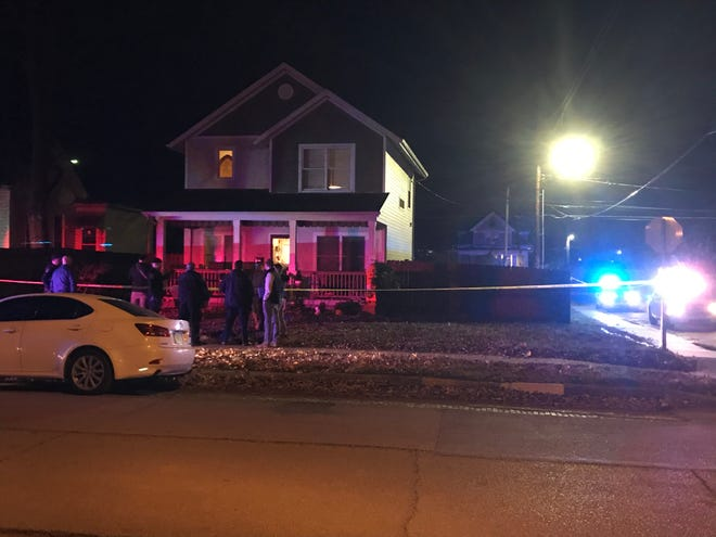 This house at the corner of Putnam and Jefferson was the site of an apparent shooting Tuesday night, Nov. 17, in Evansville.