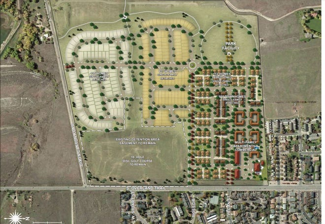 Colorado State University has submitted a new redevelopment plan for the Hughes Stadium land in west Fort Collins. It calls for 632 single-family and multifamily units, including some affordable and workforce housing.