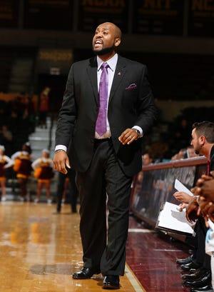 Montez Robinson, seen here coaching Alcorn State, is the interim head men's basketball coach at UT Martin.