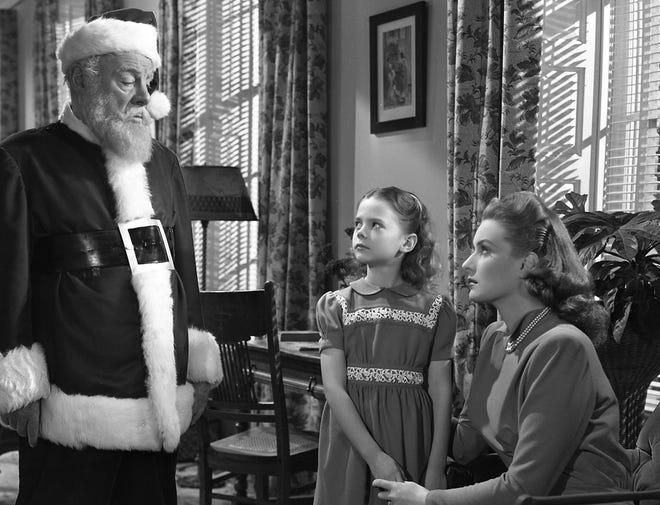 "Edmund Gwenn, Natalie Wood and Maureen O'Hara in 1947's ""Miracle on 34th Street."""