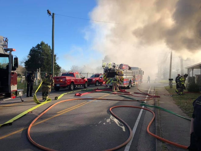 A Murfreesboro firefighter was injured Tuesday while battling a house fire.