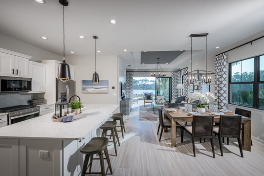 Abaco Pointe by Toll Brothers is offering move-in ready villa homes with open floor plans and spacious primary bedroom suites.