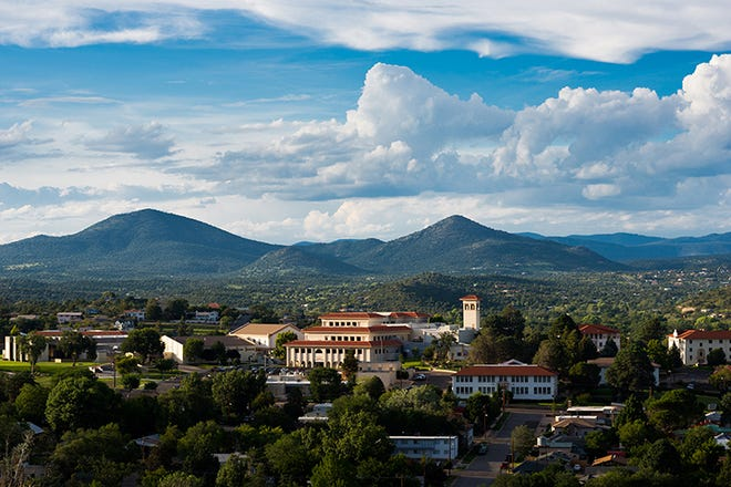 The Silver City campus of Western New Mexico University, which will soon make Curative PCR tests available to its faculty, staff, students and Mustang athletes.