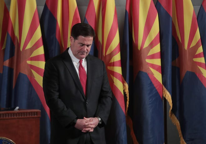 Arizona Gov. Doug Ducey has yet to take a side on the Senate's election audit.