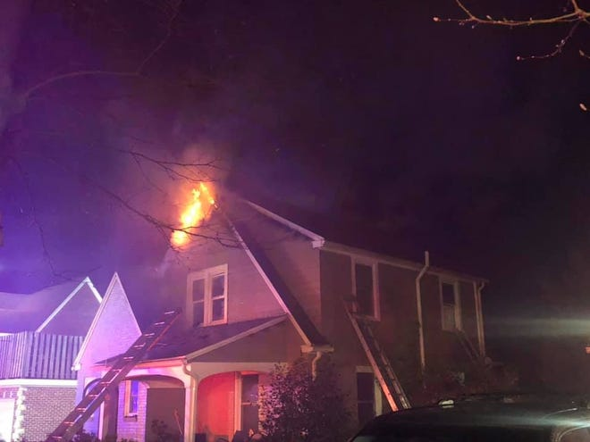Fire crews were called to the scene of a house fire in the 300 block of Old Orchard Lane in Spring Garden Township around 11:45 p.m. Tuesday, Nov. 18, 2020. (Photo from Southern PA Incident Network)