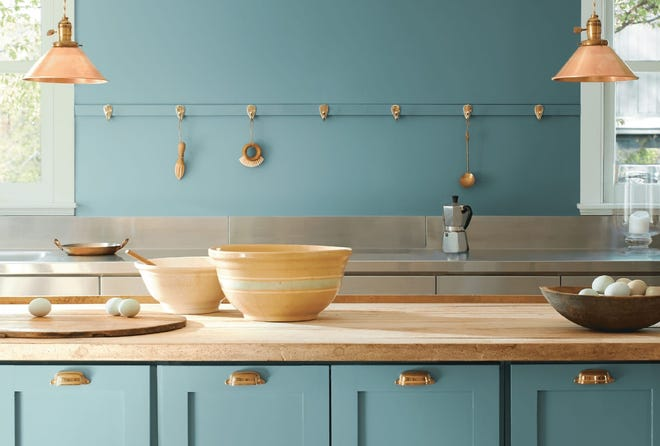 Benjamin Moore announced the highly anticipated 2021 Color of the Year: Aegean Teal.