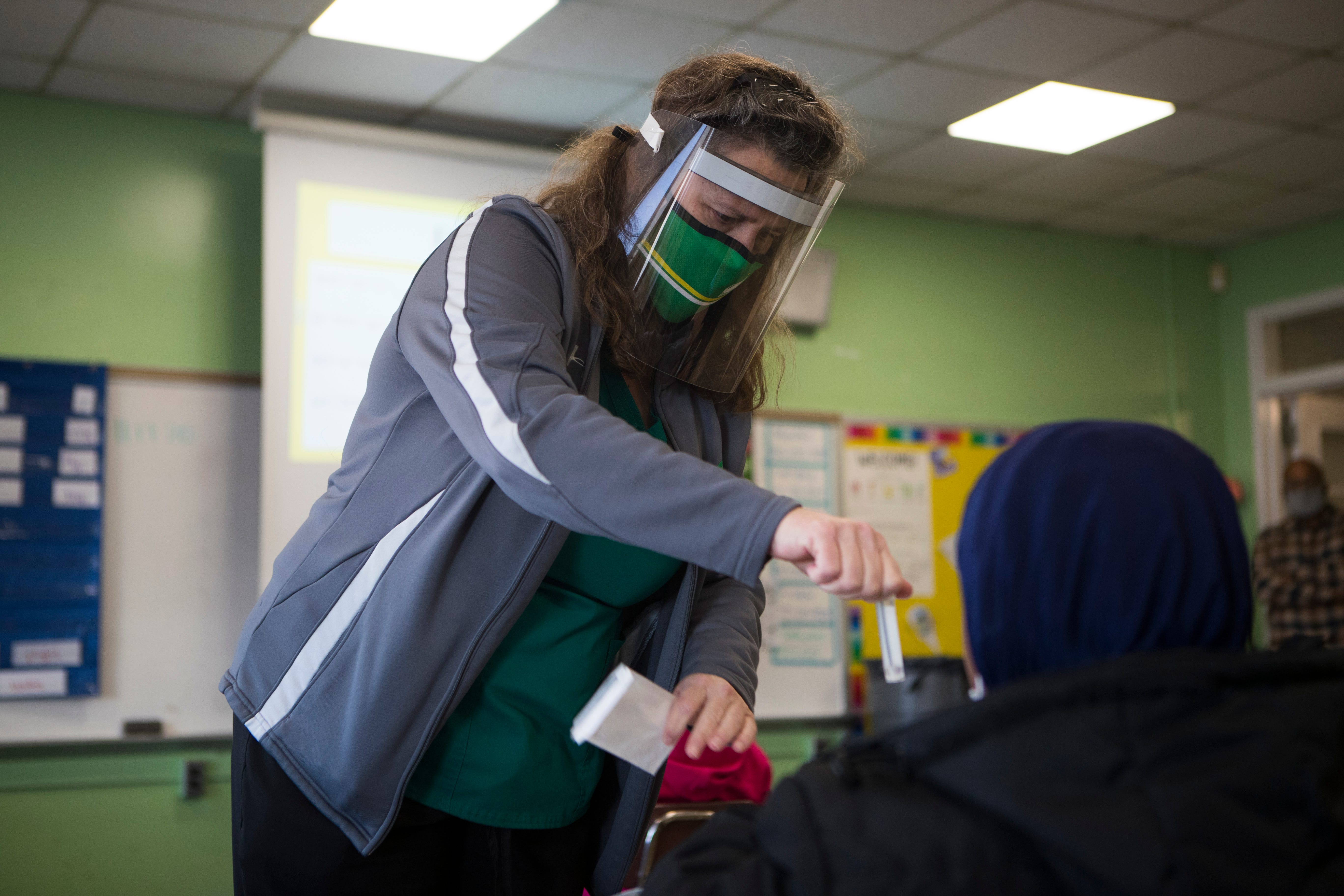 CDC changes recommendations for masks in school buildings, citing the delta variant