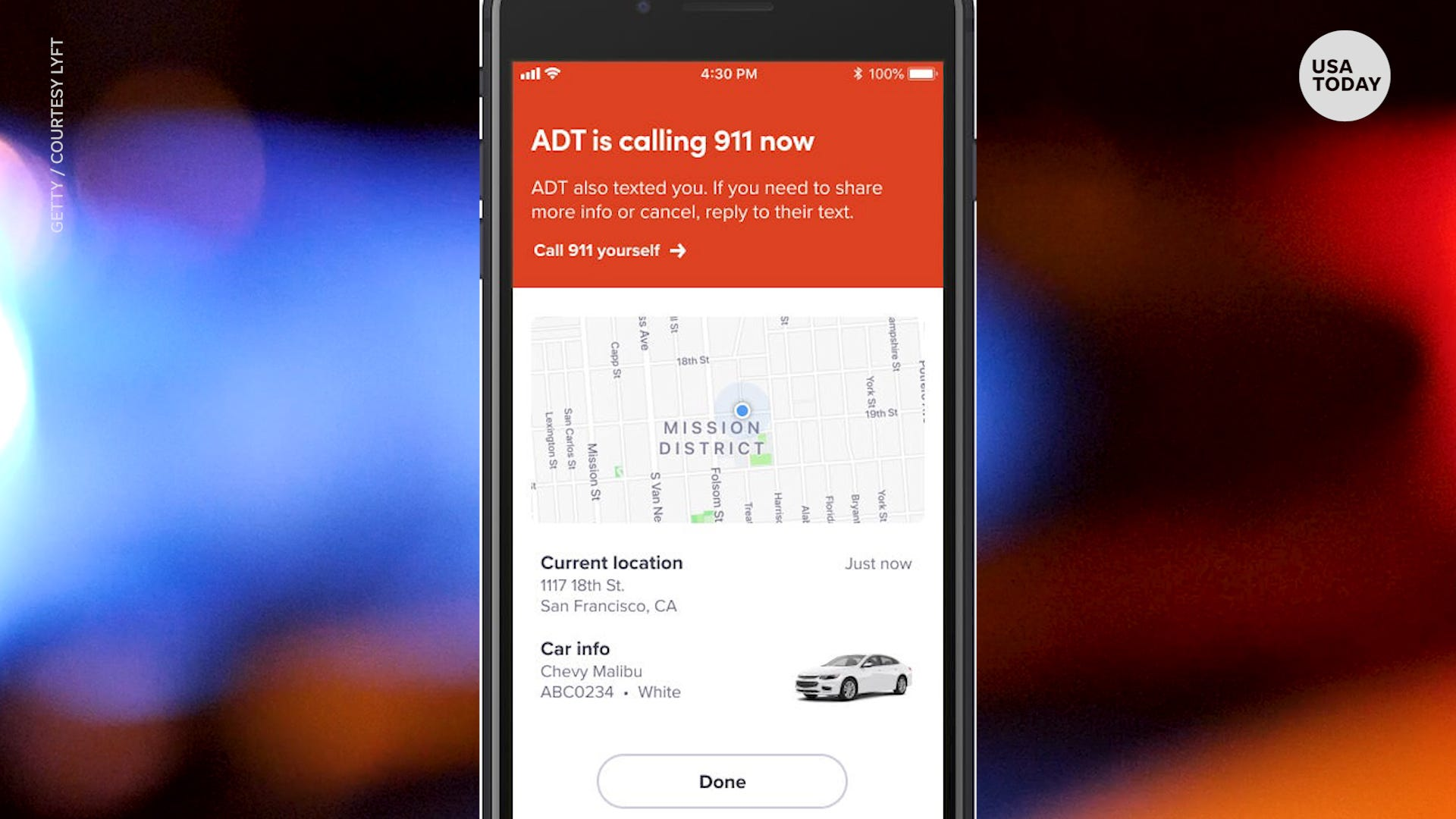Lyft partners with ADT to