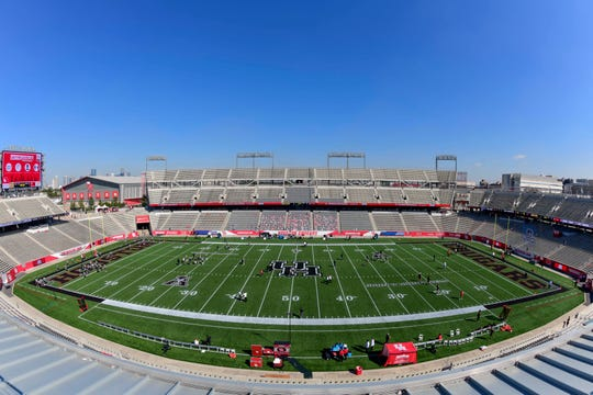 A general view before the game between Central Florida and Houston at TDECU Stadium.
