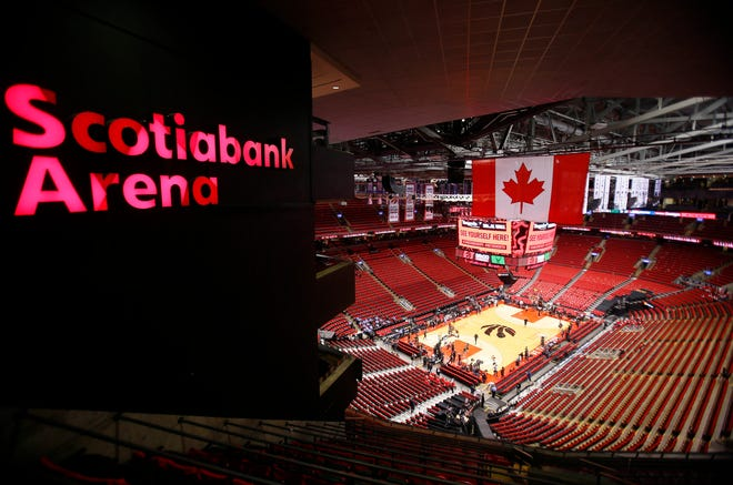 The Toronto Raptors' Scotiabank Arena prior to a 2019 NBA playoff game.