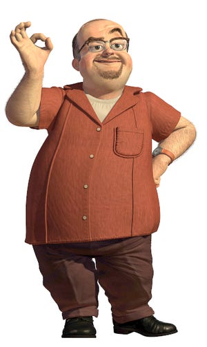 Al McWhiggin, voiced by Wayne Knight, wants to get rich by selling toys Woody, Bullseye, Jessie and Stinky Pete the Prospector.
