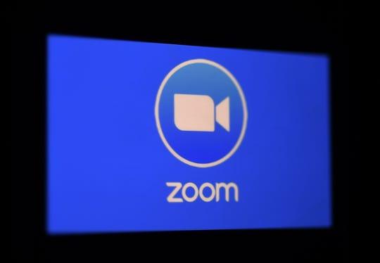 Zoom app on March 30, 2020, in Arlington, Virginia.