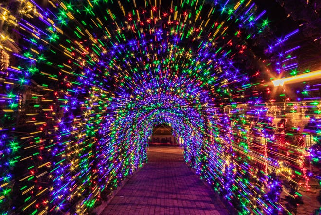 visitors can still stroll through the enchanted lit up Peddler's Village in Lahaska through Jan. 9.