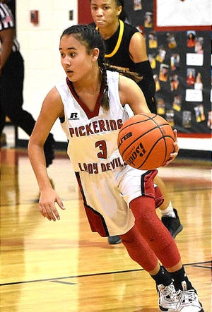 Pickering guard Ariana Yates scored a game-high 31 points to lead the Lady Red Devils past Leesville on Tuesday.