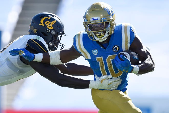 UCLA running back Demetric Felton hopes the Browns will take advantage of his versatility as a receiver and return man after picking him in the sixth round, No. 211 overall, in the NFL Draft on Saturday. [Kelvin Kuo/Associated Press]