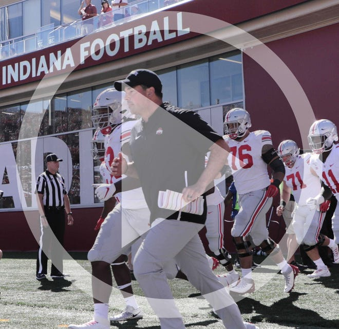 In this file photo, Coach Ryan Day and Ohio State left Indiana's Memorial Stadium last season with a 51-10 victory over the Hoosiers, an aberration in the recent series between the two teams.