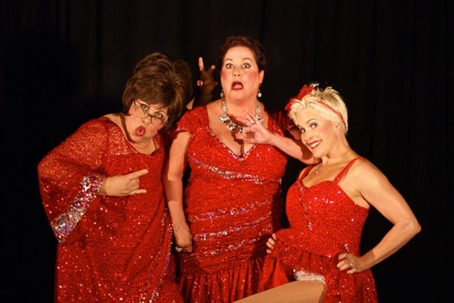 "From left, Stephanie Shull, Julie Klein and Stacie Boord as the Santa Babies in a past Shadowbox Live ""Holiday Hoopla"" production. This will be the first year that the Santa Babies are not part of the show."