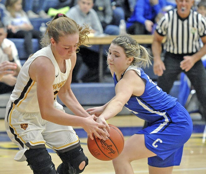 Waynedale's Brooklyn Troyer (left) and Chippewa's Taylor Thomas (right) will be two of the best players in WCAL and all of Wayne County during the 2020-21 season.
