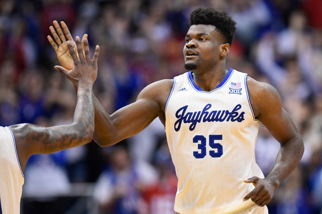 Kansas center Udoka Azubuike was selected by the Utah Jazz in the first round of the NBA draft Wednesday.