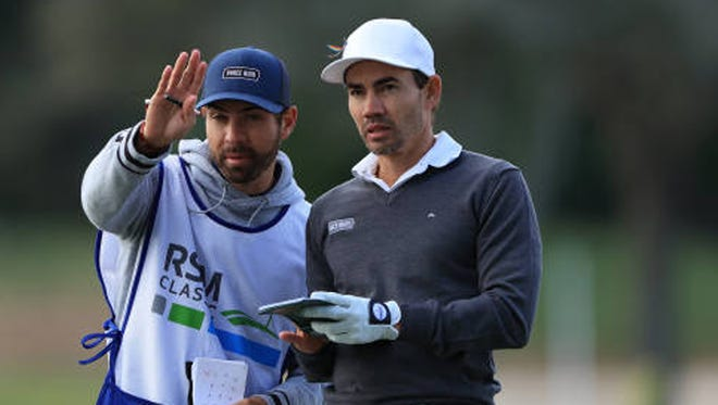 Former Florida Gator Camilo Villegas is among the leaders after the first round of the RSM Classic on Thursday at the Sea Island Club.