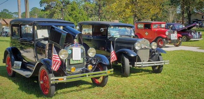 Classic Model Ts at the recent Cecil Pines car show.