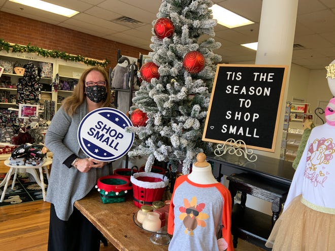 Patti Bergstrom, owner of The Velvet Goose in Gardner, is among the city's business owners urging shoppers to shop local on Small Business Saturday.