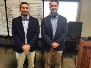 On Nov. 18, Collin Lane and Grant Phifer of the Manhattan Construction Company gave a program to the Glen Rose Lions on their experiences in working on the Globe Life Field project (home of the Texas Rangers).