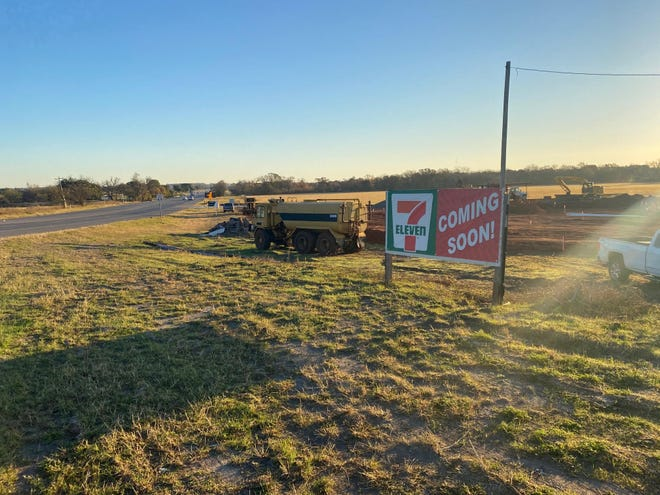 Construction is underway for a new 7-Eleven convenience store at the intersection of Highway 67 and Highway 144.