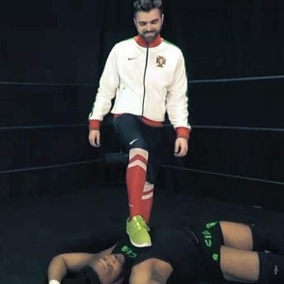wrestler luso-americano Cory Machado.