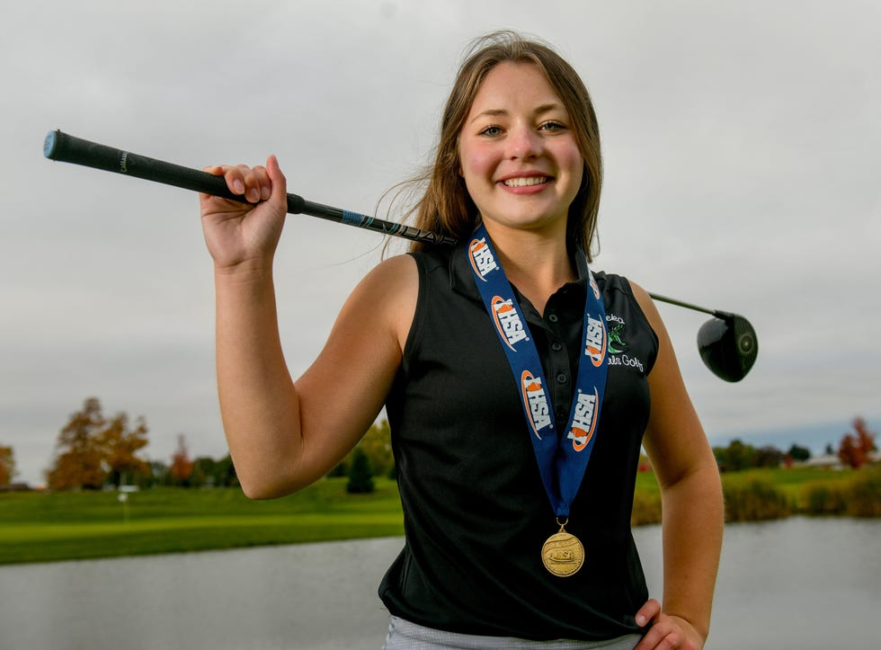 Eureka senior Allison Pacocha is a three-time Journal Star girls golfer of the year and one of the top returnees this season.