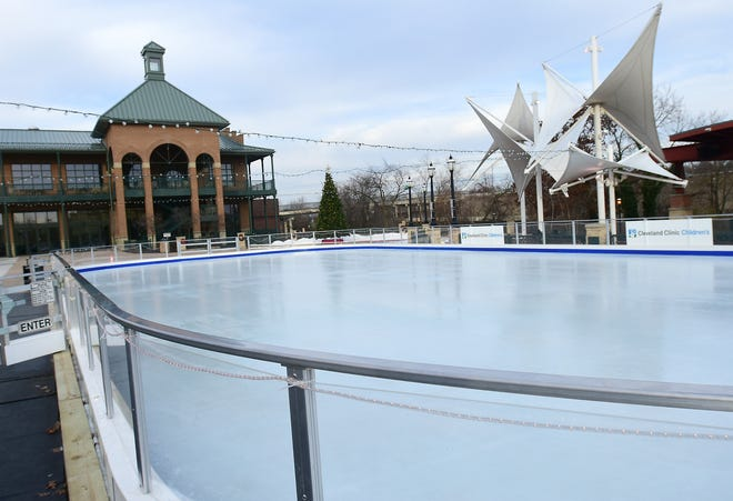 The Ice Rink in Downtown Cuyahoga Falls is set to open Nov. 28.
