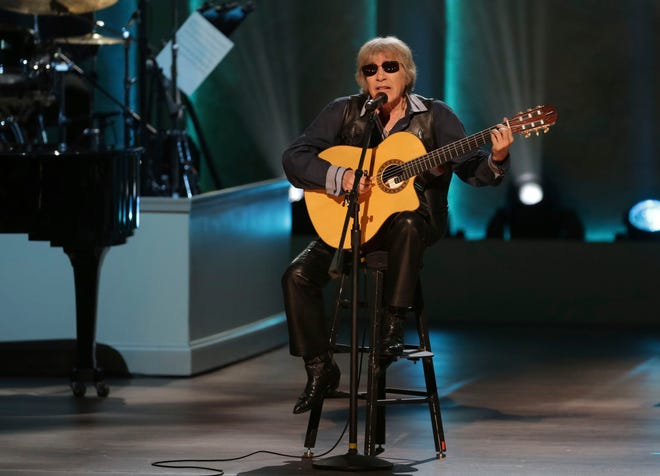 "Musician Jose Feliciano performs during the Library of Congress Gershwin Prize tribute concert on March 13, 2019, in Washington. Feliciano is celebrating 50 years of his bilingual Christmas classic ""Feliz Navidad"" by releasing a new version featuring Jason Mraz, Lin-Manuel Miranda, Shaggy and more."