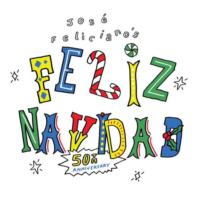 "This cover image released by Media Services, Inc. shows  the 50th anniversary release of the single ""Feliz Navidad"" by Jose Feliciano."