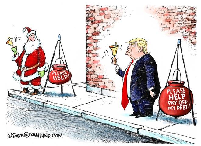 Dave Granlund cartoon on Trump's debt